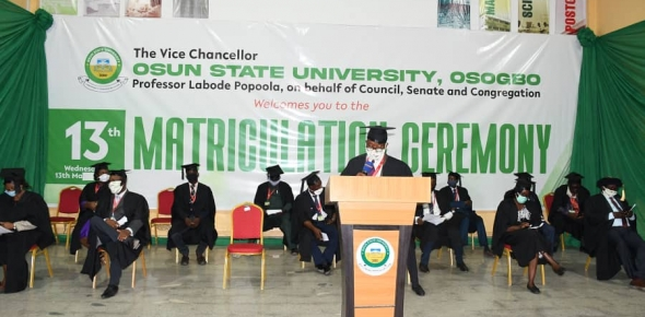 13TH MATRICULATION CEREMONY ONLINE