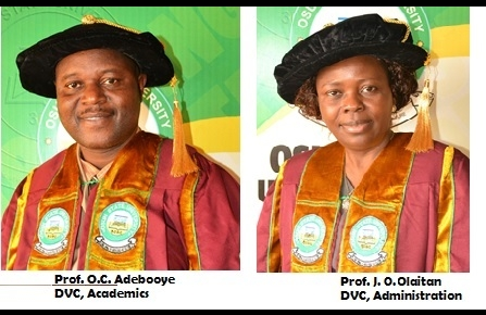 UNIOSUN GETS TWO NEW DEPUTY VICE CHANCELLORS