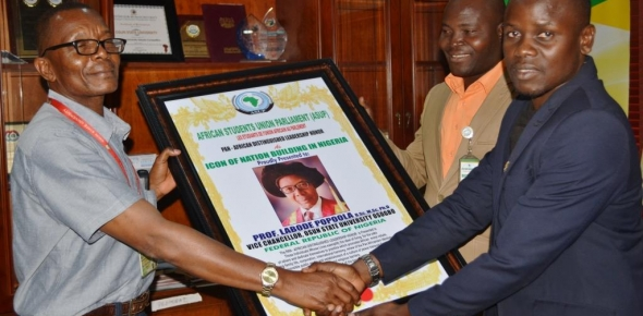 VICE-CHANCELLOR BAGS PAN-AFRICAN LEADERSHIP AWARD
